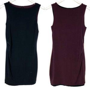 Athleta Dress Reversible Black Brown Sleeveless XS